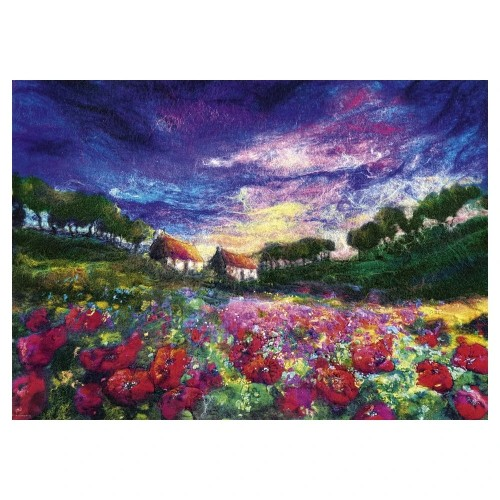 SUNDOWN POPPIES- PUZZLE