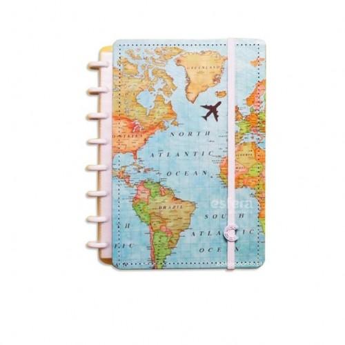 Caderno Inteligente A5|Mapa Mundi