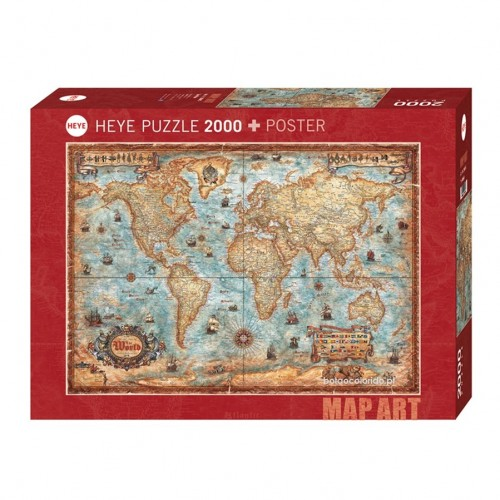 THE  WORLD - PUZZLE + POSTER