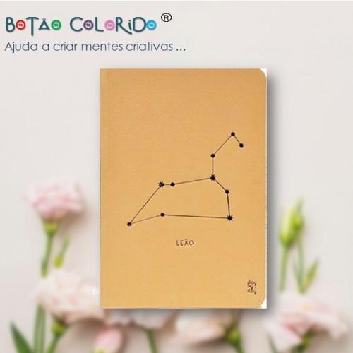 Caderno liso - Signo Leão