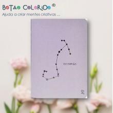 Caderno liso - Signo Escorpião