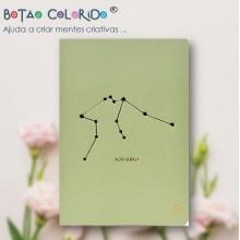 Caderno liso - Signo Aquário