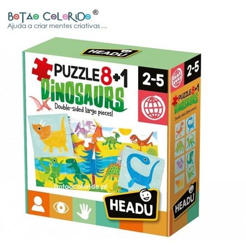 Puzzle 8+1 | DINOSSAUROS