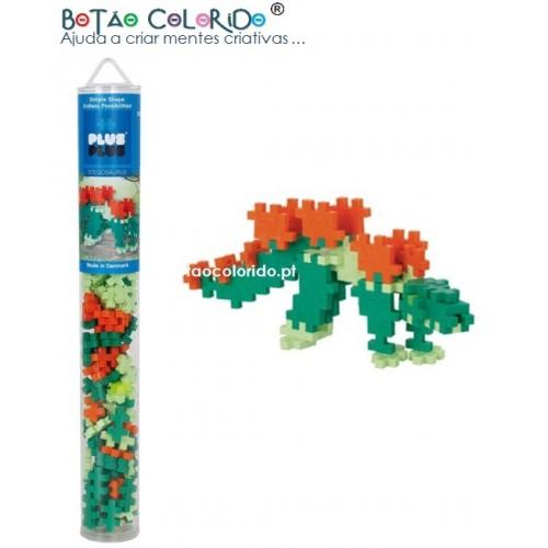 PLUS PLUS |Tubo 100 peças - Stegosaurus