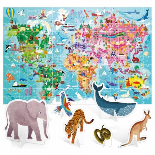 World Tour Giant Puzzle - 108pçs