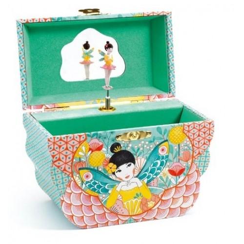 Caixa de música e guarda-jóias | Melodia florida